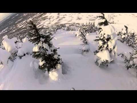 Backcountry skiing in The Chugach Mountains, Alaska - Powder Day