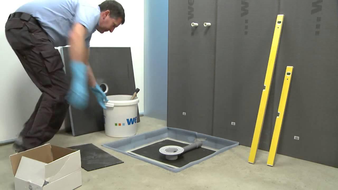 Chicsa wedi instalaci n de la ducha a ras de suelo for Como arreglar una gotera en la regadera