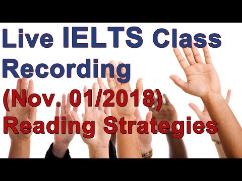 IELTS Live Class – Reading Practice and Strategy