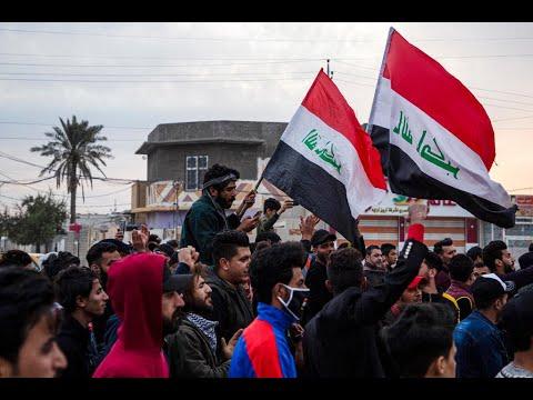 مقتل متظاهر وإصابة العشرات إثر مواجهات بين قوات الأمن والمتظاهرين في بغداد