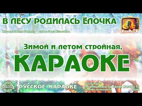 """Караоке - """"В лесу родилась ёлочка"""" Новая версия"""