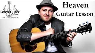 Heaven - Acoustic Guitar Lesson - Bryan Adams - Drue James thumbnail