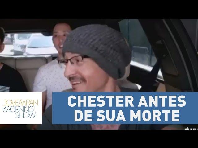 """Linkin Park solta vídeo de Chester no """"Carpool Karaoke"""" seis dias antes de sua morte:"""