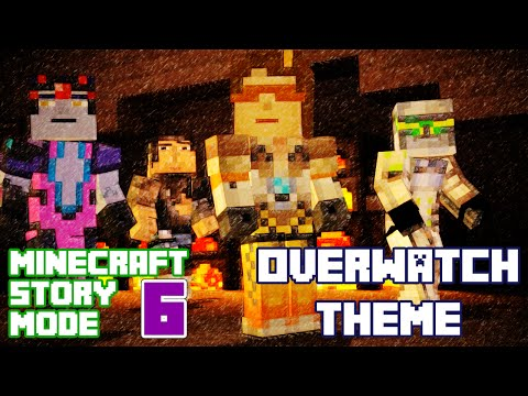 Play as Tracer! Minecraft Story Mode Episode 6 FULL Playthrough (Overwatch Theme)