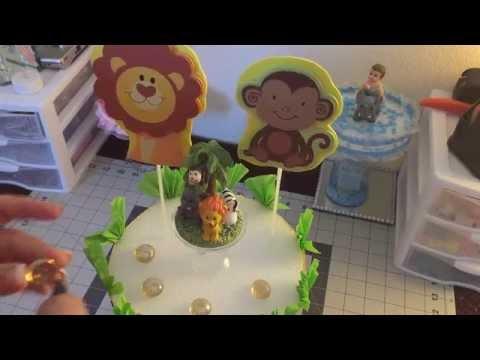 baby shower safari theme center piece diy youtube