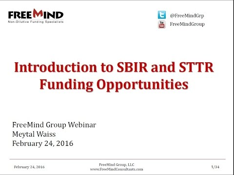 Introduction to SBIR and STTR Funding Opportunities