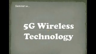 5G Technology Ppt