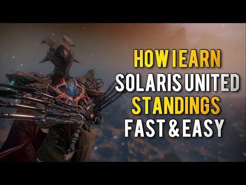 Warframe: HOW I EARN SOLARIS UNITED STANDINGS FAST & EASY
