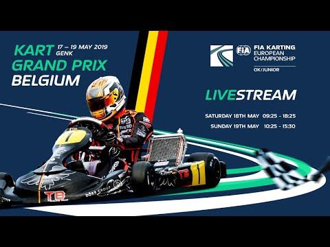 FIA Karting European Championship 2019 OK / Junior Round 2  Genk Sunday