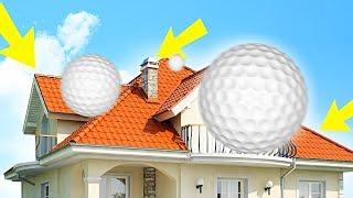 ЖЁСТКИЙ СКИЛЛ ТЕСТ В ГОЛЬФЕ ПО ДОМАМ! (Golf It)