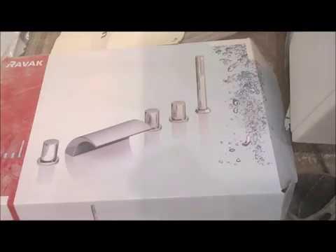 монтаж смесителей Ravak WF 025 00 в борт ванны