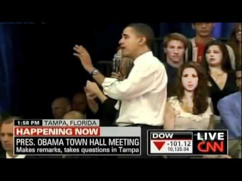 A student Asks Obama about israel's Human Rights violations