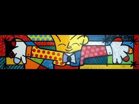 Como Pintar O Abraco De Romero Britto Youtube