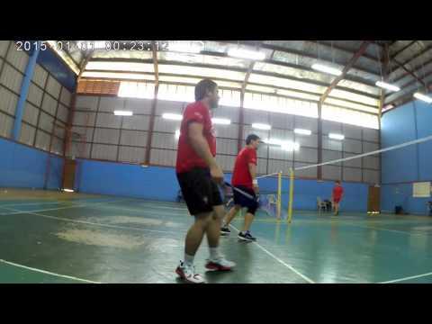 SJ9000 video test on a badminton match (beginner level....T~T)