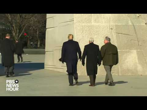 WATCH: Trump and Pence visit Michael Luther King Jr. memorial