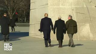 WATCH: Trump and Pence visit Martin Luther King Jr. memorial