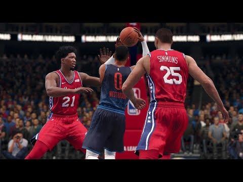 NBA Today 12/15/2017 - Oklahoma City Thunder vs Philadelpha 76ers - Full NBA Game Live (NBA Live 18)
