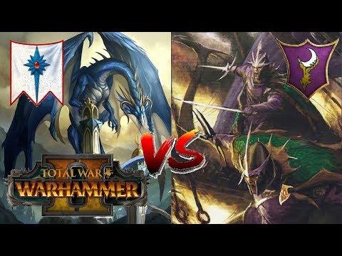 High Elves vs Dark Elves   THE SHOWDOWN - Total War Warhammer 2 Multiplayer Game