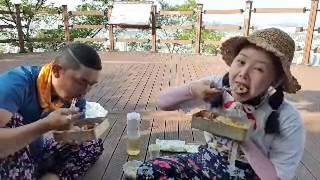 목포 유달산에서 옛날 도시락 먹방