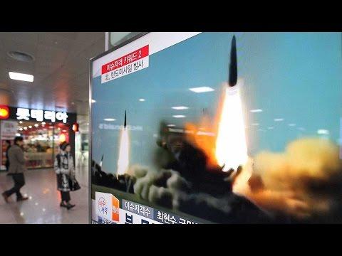 North Korea launches two medium-range ballistic missiles