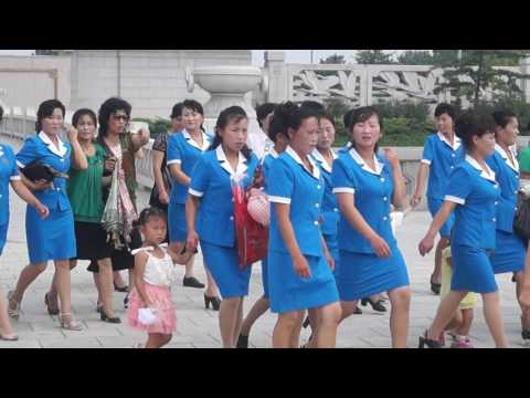 At the Kumsusan Palace of the Sun in Pyongyang, North Korea (DPRK)