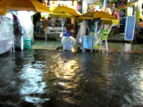 Khao Sarn Road Flooded at Night