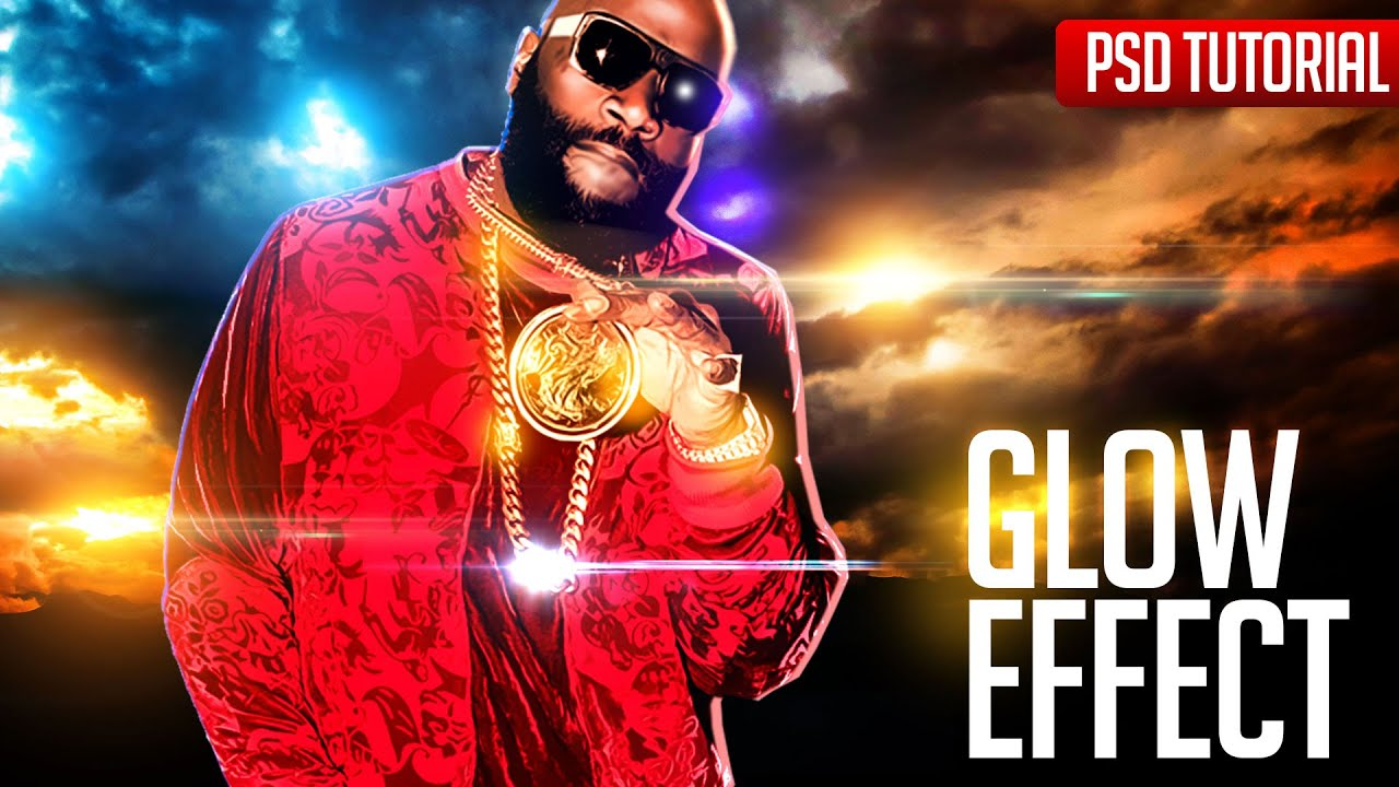 photoshop tutorials glow effects for mixtape cover flyer