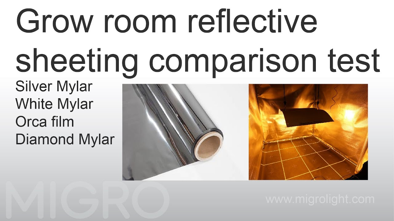 grow room reflective sheeting comparison test