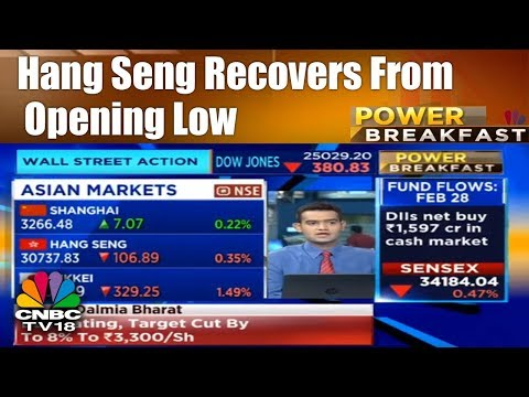 Asian Markets Check | Hang Seng Recovers From Opening Low | Power Breakfast | CNBC TV18