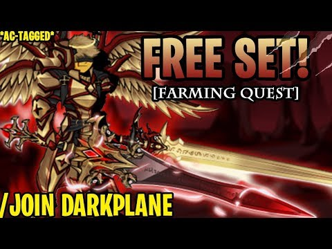 AQW - /JOIN DARKPLANE (EASY Farming Items!) (AC-TAGGED) + ITEM Showcase!