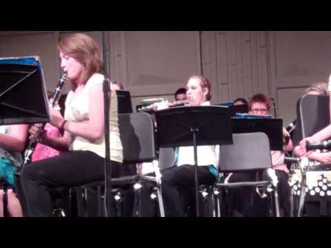 Saranac MIddle School Band Spring 2013 - Mars