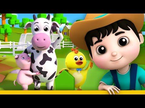 fünf kleine Farmees | Kinderreime | Lieder für Kinder | Reime für Babys | Five Little Farmees