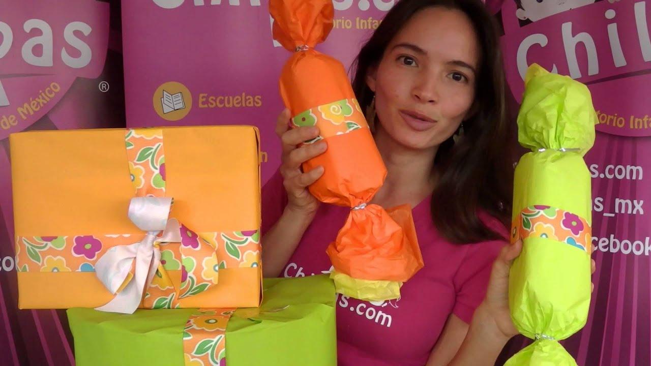 Materiales para envolturas de regalo youtube for Envolturas para regalos
