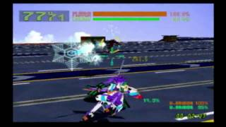Cyber Troopers virtual-on oratorio tangram - Game play (DC)
