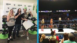 Meeting Aj Styles & WWE SmackDown Live 8/14/18 ROW 5 | Brandon Hodge Vlog #78