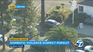 LIVE: Chase suspect leads dangerous pursuit in LA County I ABC7