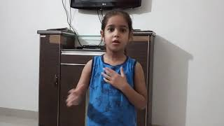 My country speech by nursery class student Aaradhaya Patidar