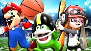 Mario and friends all try out different sports. Most of them are pr...
