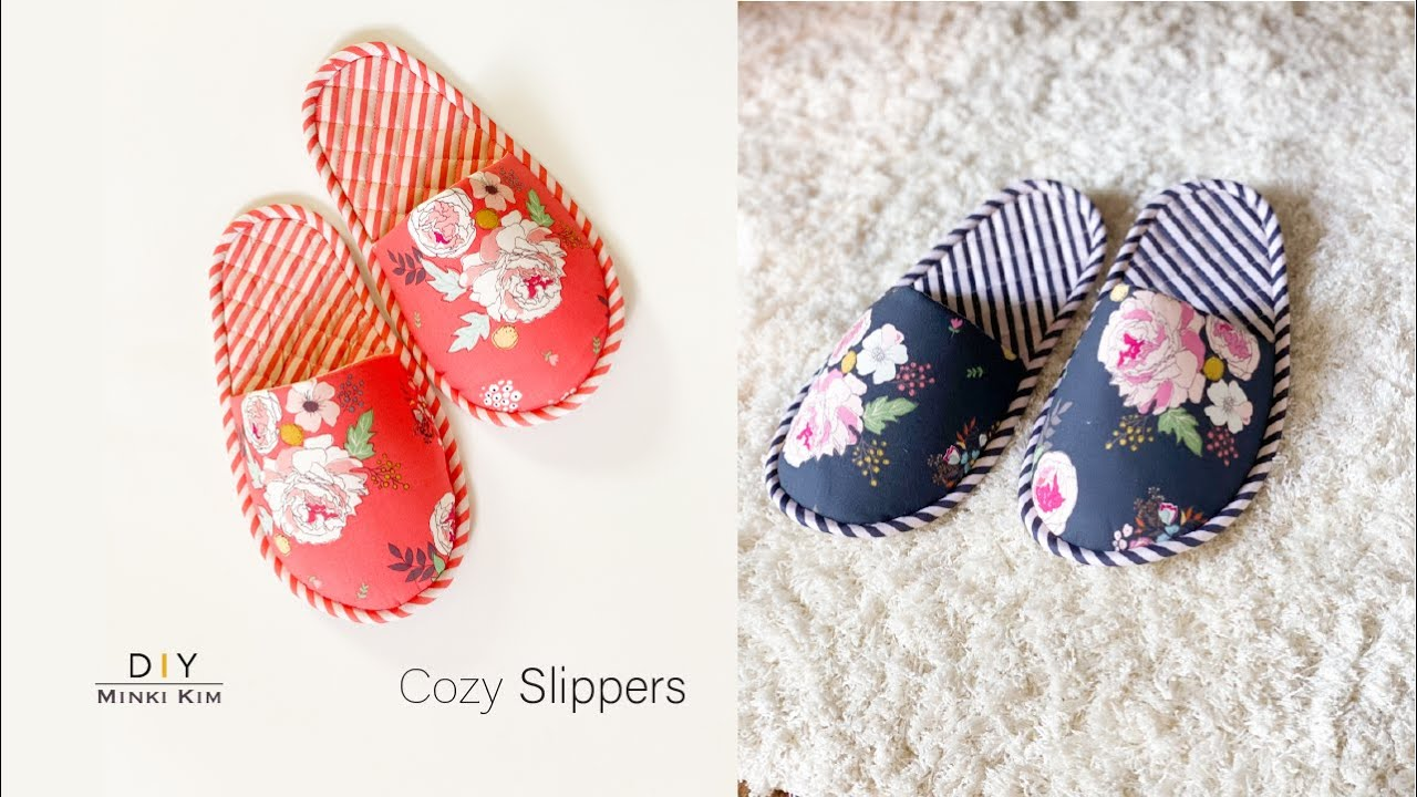 Download How to make COZY SLIPPERS   Indoor slippers   Room Shoes   룸슈즈 DIY