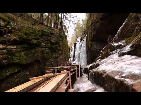 Falls on the Flume Pool Loop, NH 3/31/16 (Long video, but a lot to see)