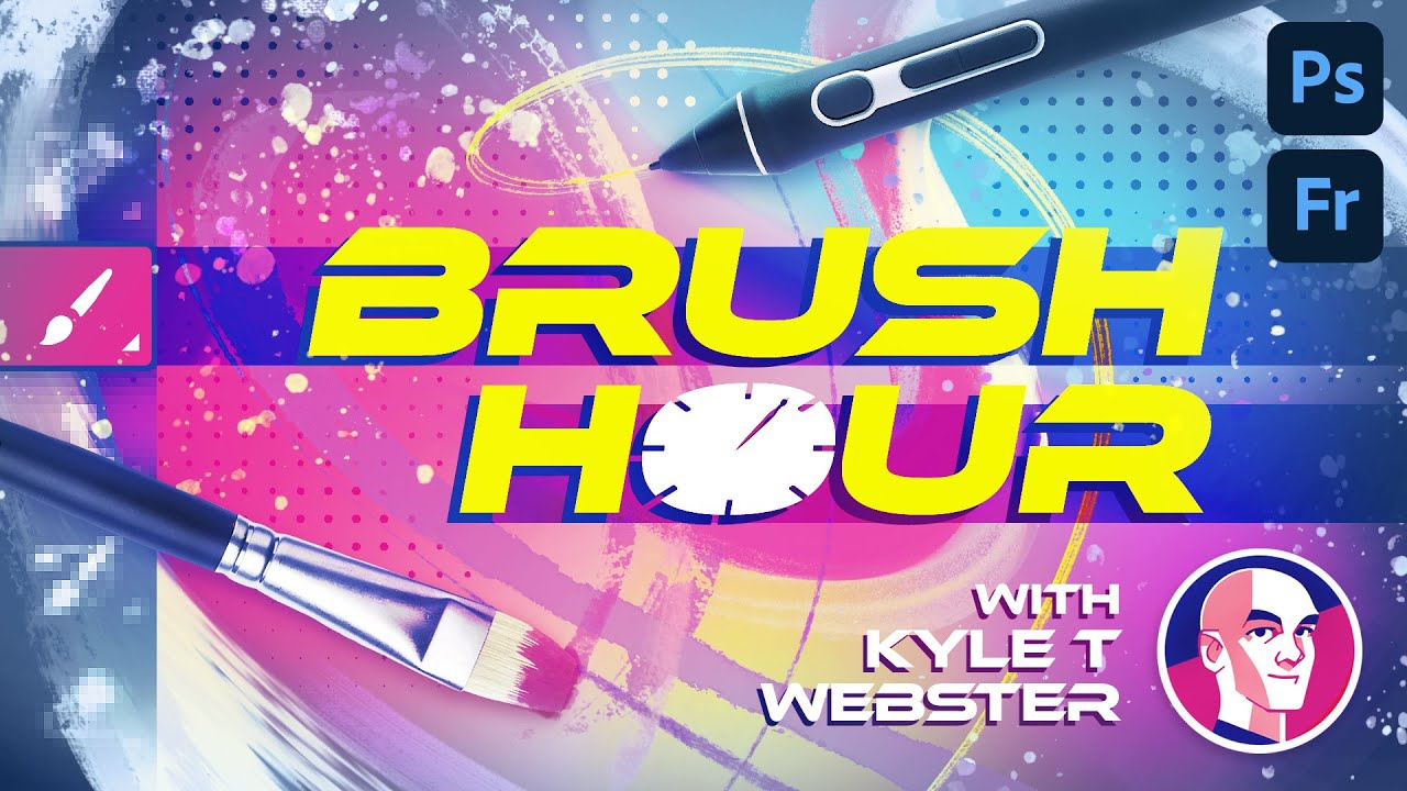 Brush Hour with Kyle T. Webster - Lesser Known Brushes (Part 4: Rake Brushes)