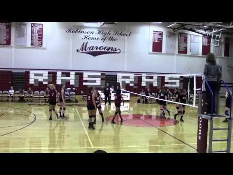 10/9/2014 Volleyball Robinson High School Freshman vs. Olney- Set 2