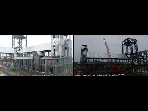 Timelapse Construction of Christ the King Chapel | March 2020