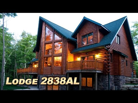 Large luxury Log home Pictures of Golden Eagle Log and Timber Homes lodge floor plan