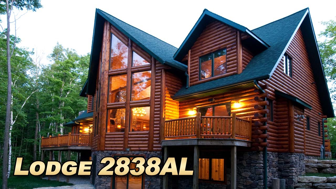 Large Luxury Log Home Pictures Of Golden Eagle Log And Timber Homes Lodge Floor Plan Youtube