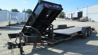 Midsota Bobcat Equipment trailer & Dump Trailer in 1!