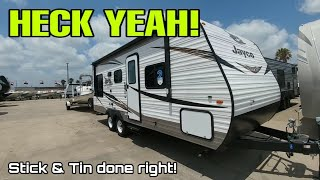 Cool No Slides Half Ton Towable Travel trailer from Jayco!