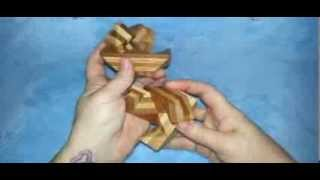 Solution #2 for Bamboo Wood Puzzle 3 from Puzzle Master Wood Puzzles