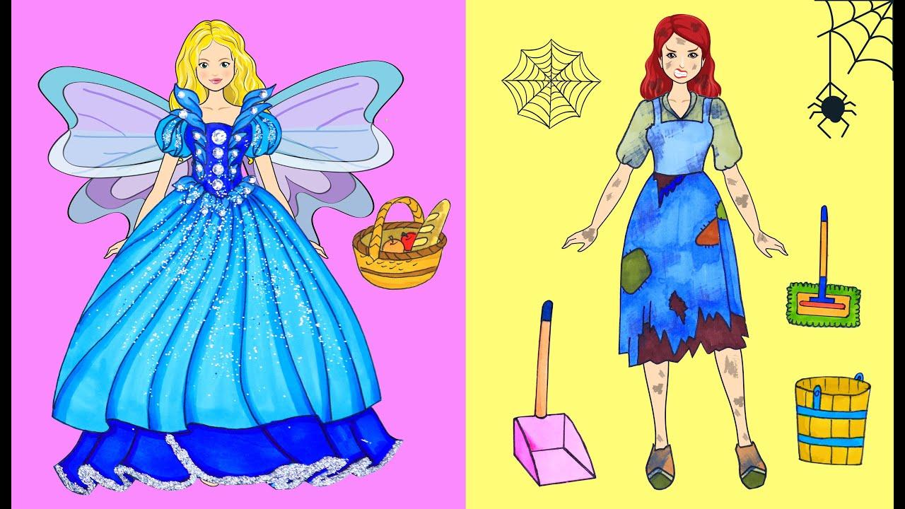 [DIY] Paper Dolls Dress Up ! Costume Beautiful Dress & Ugly Dresses Handmade - Barbie Story & Crafts