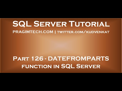 DATEFROMPARTS Function In SQL Server